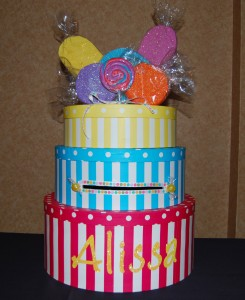 Custom Candy Theme Card Box